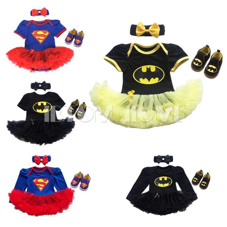 3PCS Superman Batman Baby Girl Romper Tutu Dress Headband Shoes Birthday Outfits in Clothing, Shoes & Accessories, Baby & Toddler Clothing, Girls' Clothing (Newborn-5T) | eBay