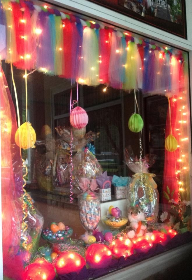 Our window display at our shop, for Easter Holiday! =)