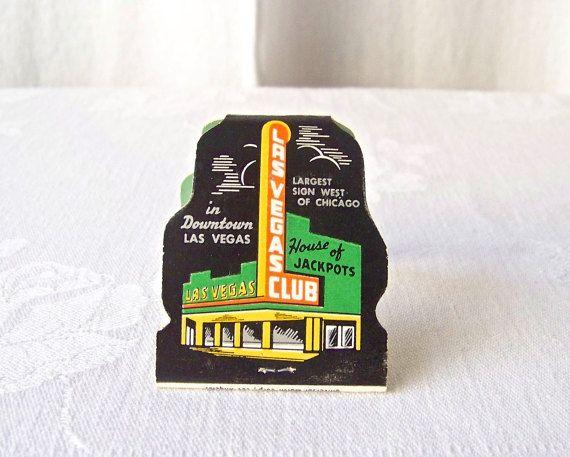 Vintage Las Vegas Club Matchbook Downtown Las by CynthiasAttic