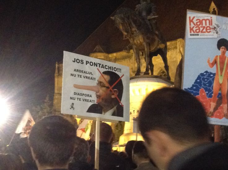 Manifestație anti-PSD, Cluj, Decembrie 2014