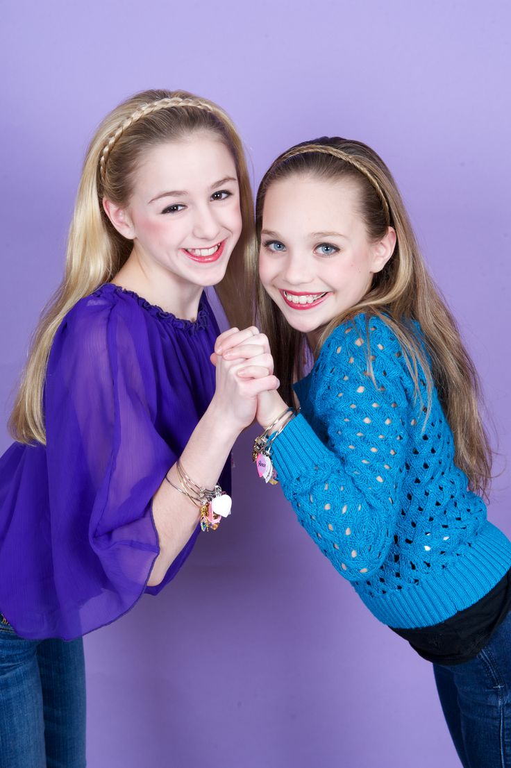 Dance Moms Chloe Lukasiak and Maddie Ziegler