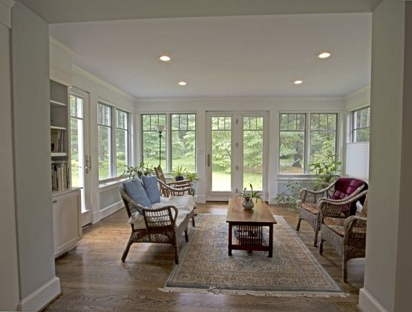 This 16' x 12' light-filled home #addition borrows views and light from the surrounding outdoors.