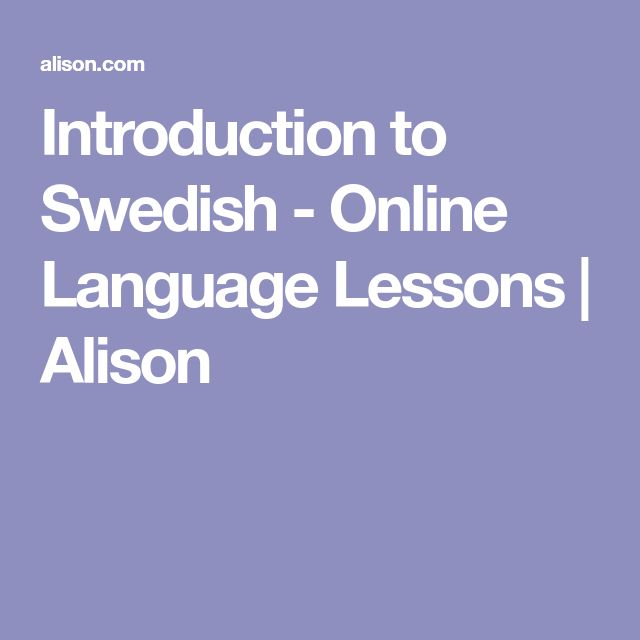 Introduction to Swedish - Online Language Lessons | Alison