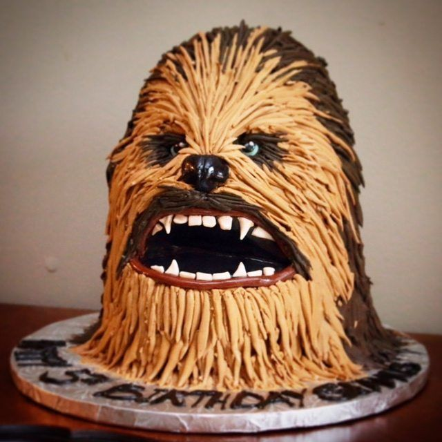 Chewbacca Birthday Cake In 2019 Baby Boy Birthday Cake
