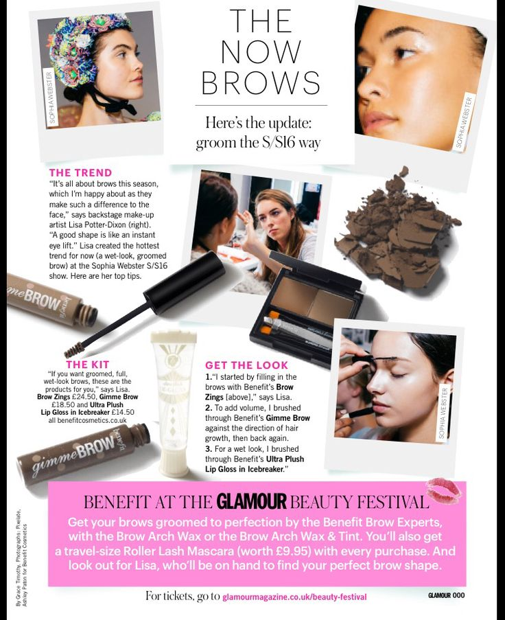 Check out my top brow tips in this months Glamour magazine! It's all about the brows! #learnwithlisa