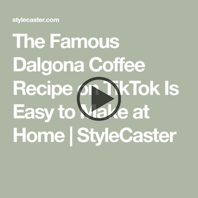 This Tiktok Famous Coffee Drink Is Actually Super Easy To Make At Home Coffee Recipes Dalgona Coffee Coffee Drinks