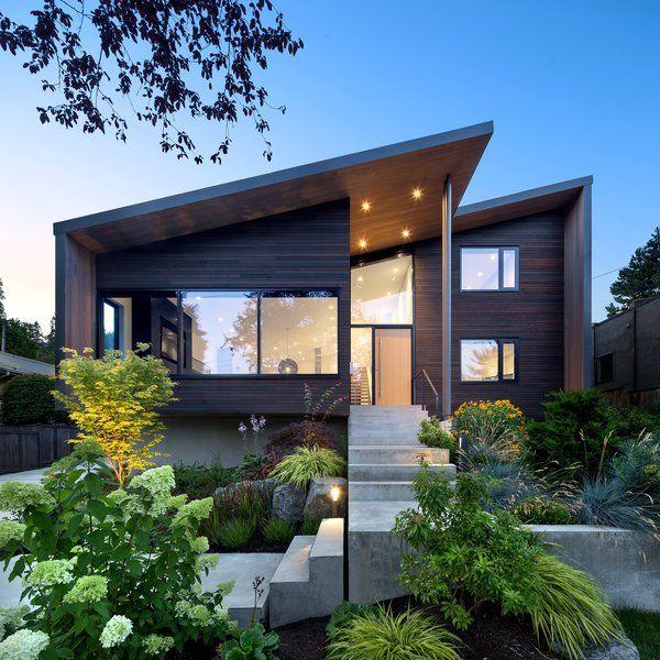 An Ordinary Suburban Home In Vancouver Is Given A Modern Edge Contemporary House Design House Exterior Modern Exterior