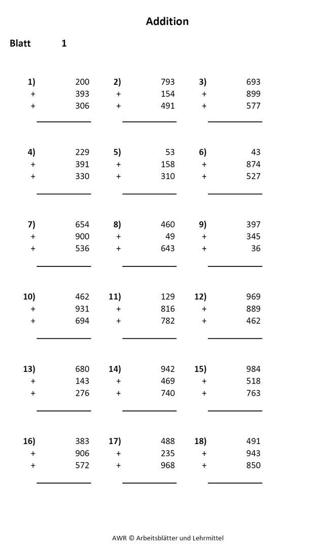 20 Druckbare 3. Klasse Mathe Arbeitsblätter | Bathroom | Pinterest