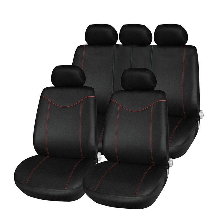 新加入ユニバーサル車のシートカバーセット11ピースシートカバーフロントシート後部座席のヘッドレストカバーメッシュ黒とグレー5スタイルオプション
