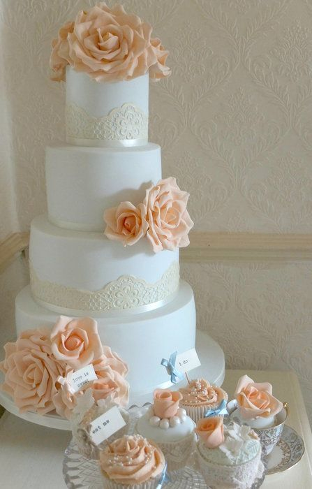I love how simple this cake is. & I want these colors. Probably wouldn't include the flowers on the top.
