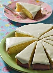 Citronkage - Norwegian lemon cake.