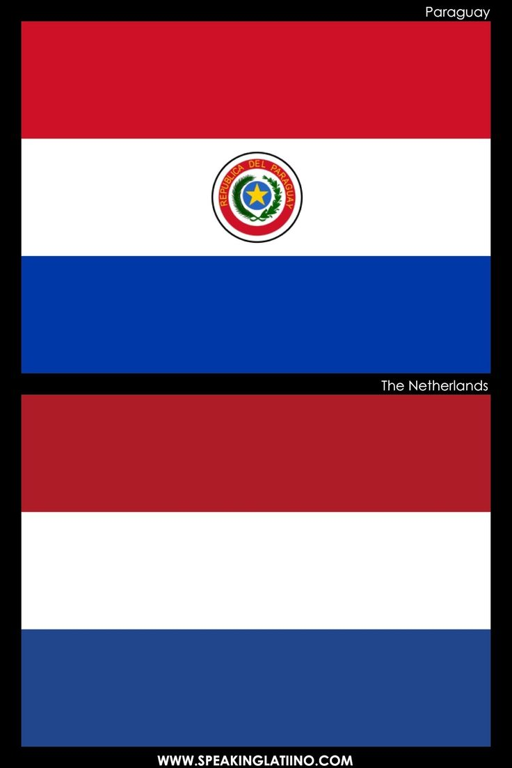 Hispanic Flags With Similar Flags from Around the World: PARAGUAY AND THE NETHERLANDS.  .@Jorge Martinez Cavalcante (JORGENCA)