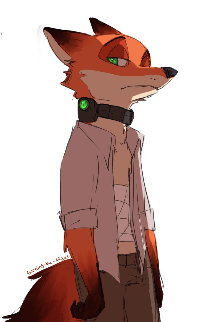 "Collar by TurningTides on DeviantArt (Apparently this is inspired by the dark au that Zootopia originally was supposed to be. The story originally centered around the fox character; in a world where predator and prey live in ""peace"" except the predator species have their thought patterns and emotions monitiored to prevent them becoming violent. The movie-makers eventually realized this was a bit much, but the concept has spawned a whole distopian au comic strip online. Which is quite…"