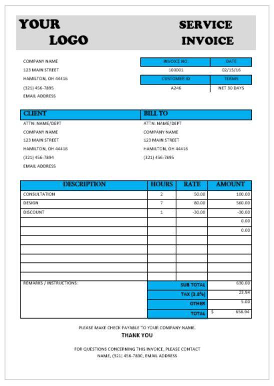Consultant Service invoice Consulting Invoice Template Invoice