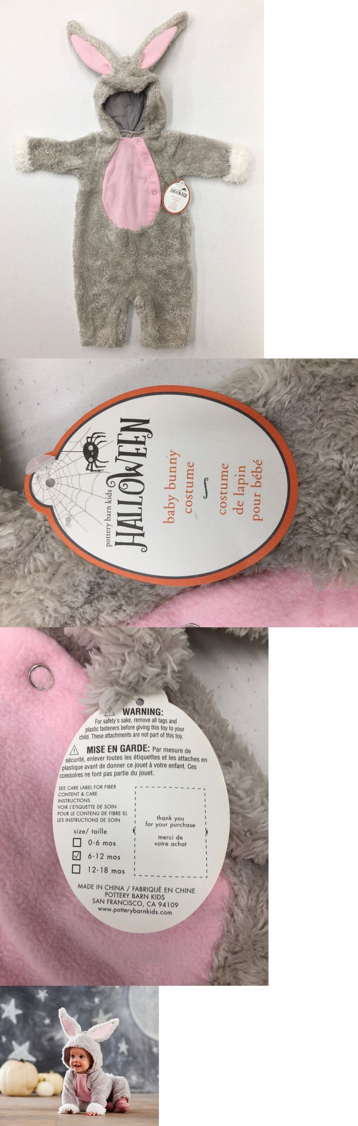 Kids Costumes: New Pottery Barn Kids 1 Pc. Baby Bunny Halloween Costume 6-12 Months -> BUY IT NOW ONLY: $54.99 on eBay!
