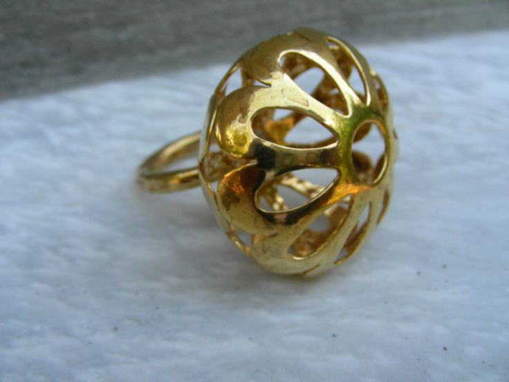 gold plate bronze ring