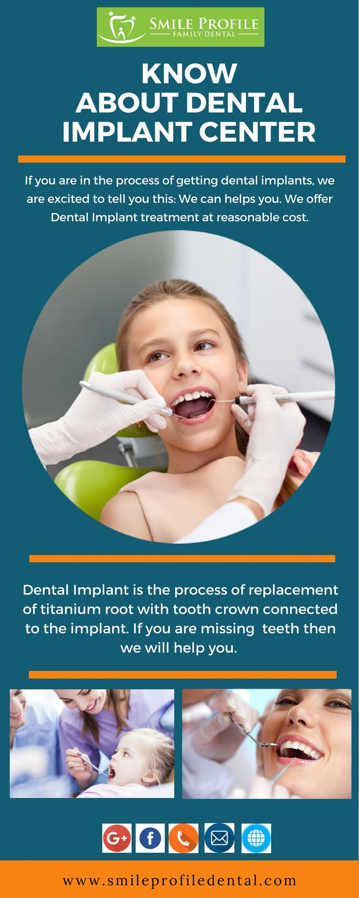 If you are in the process of getting #dental implants, we are excited to tell you this: We can helps you. We offer Dental #Implant treatment at reasonable cost.  Dental implants are a long-lasting and excellent treatment for replacing missing or failing #teeth, and securing #dentures. If you are #missing teeth then we can help you.