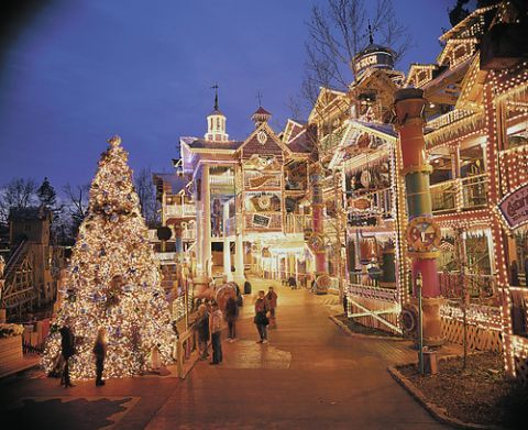 Old Time Christmas festival at Silver Dollar City in Branson, MO