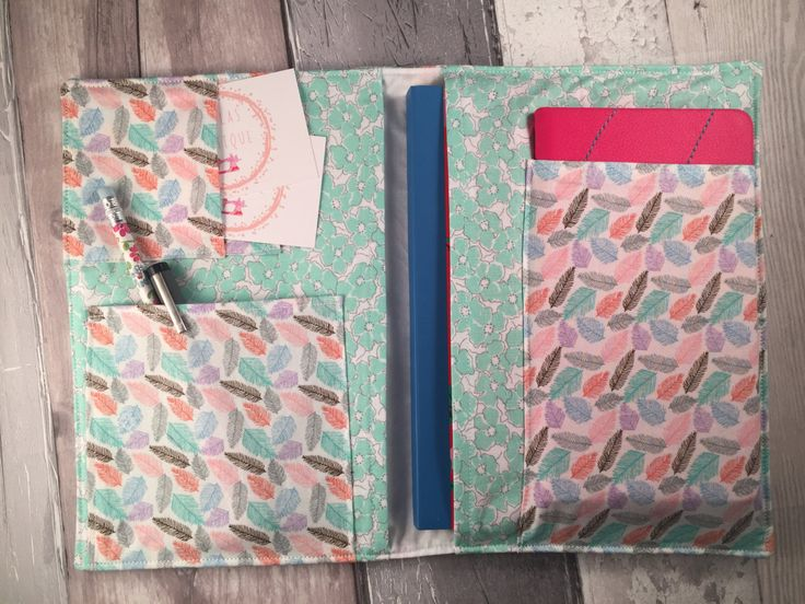 On The Go Organizer, Book Cover, Planners Organisers, Fabric Planner, Notbook Cover  - pinned by pin4etsy.com