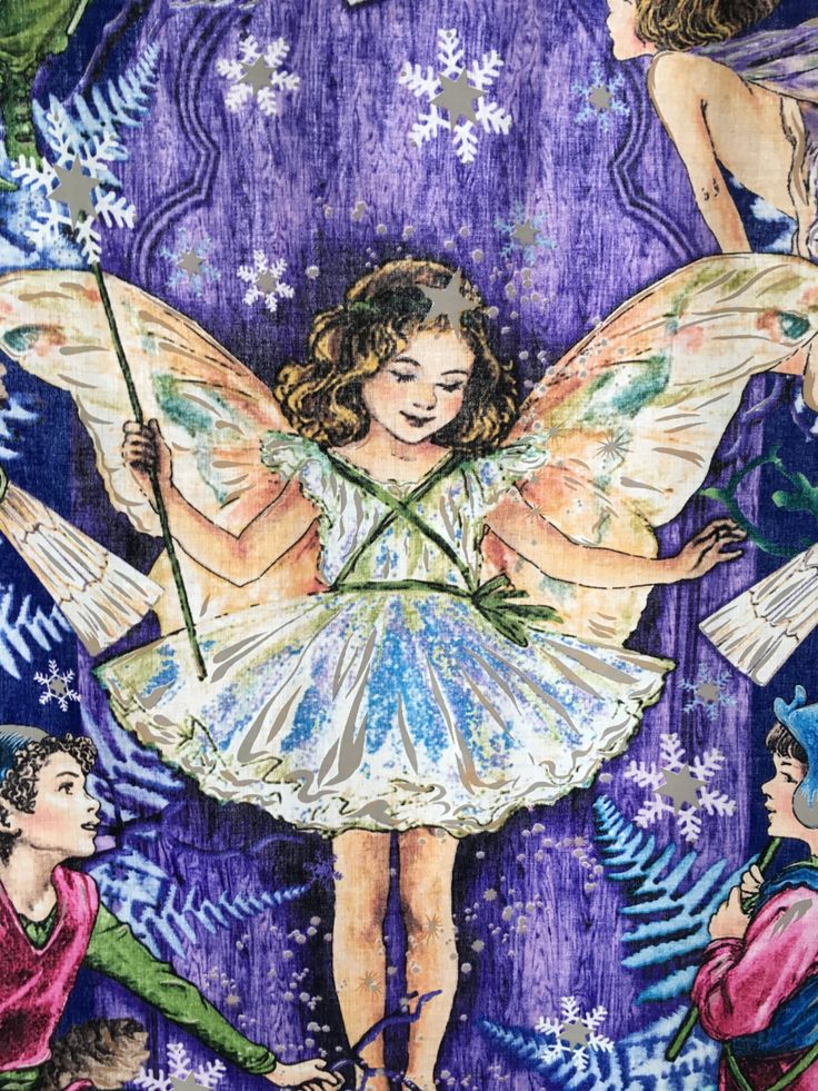 Toddlers Quilt, BQ006, 100% cotton, enchanted fairies by Michael Miller Fabric. by TheQuiltedCheese on Etsy