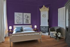 10 Great Pink and Purple Paint Colors for the Bedroom: Tulip Purple