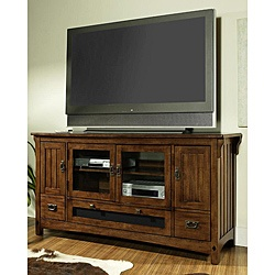 not this cabinet necessarily, but the idea of a cabinet like this under a large mounted tv could work...