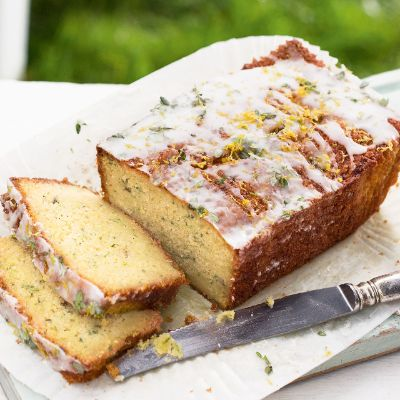 Courgette Lemon Drizzle Cake - Lemon thyme adds an intriguing herby edge to this gluten-free cake, and gives a pretty finish to the sugary crust