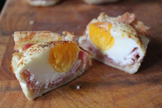 Männer-Muffins…… oder auch Eiernester zum Frühstück