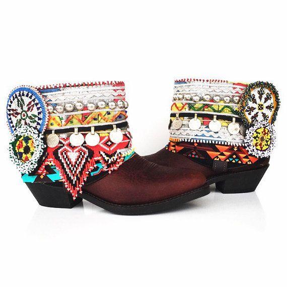 "Boho Hippie Cowgirl Boot Cowboy - Wild Boots - Wilde Nächte-Damen 9,5 ""Zigeuner"" Cowgirl Boot"