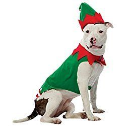 UHC Elf Outfit Fancy Dress Christmas Theme Puppy Pet Dog Costume, XL