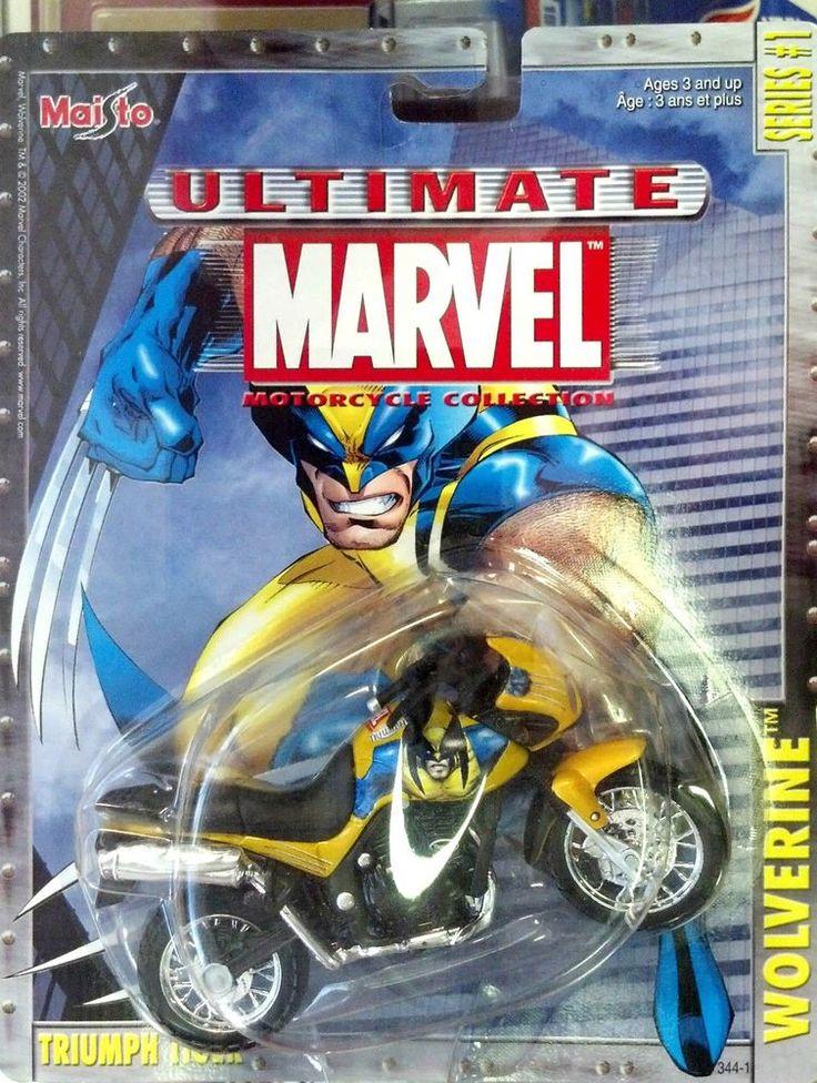 Maisto Ultimate Marvel Motorcycle Coll. Triumph Tiger Wolverine Die Cast series1 #Maisto #Triumph