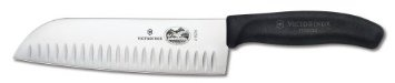 .Victorinox Fibrox 7-Inch Granton Edge Santoku Knife Victorinox  (195)Buy new: $45.80  $29.38 25 used & new from $26.99(Visit the Most Wished For in Asian Knives list for authoritative information on this product's current rank.).