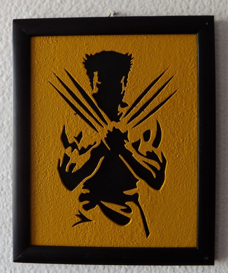 mdf wolverine portrait 15x20 cm