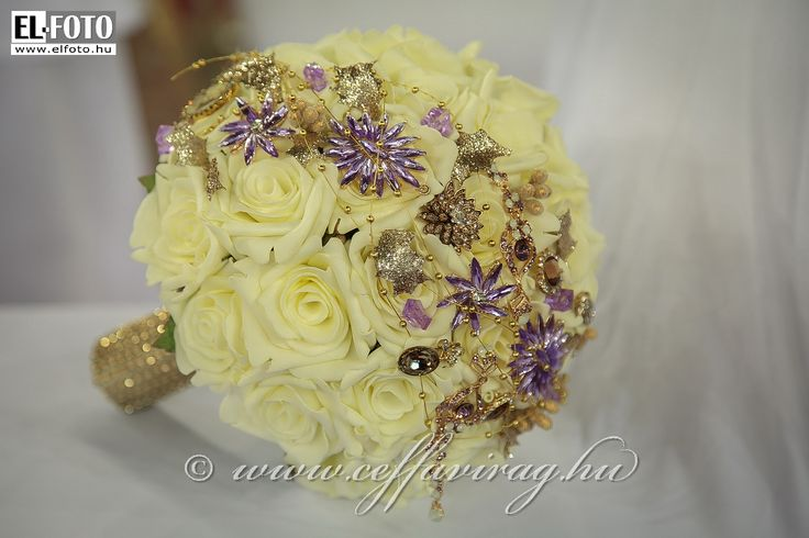 Caressingly soft pastel roses polifoam - glittering purple-color jewelry ... :)