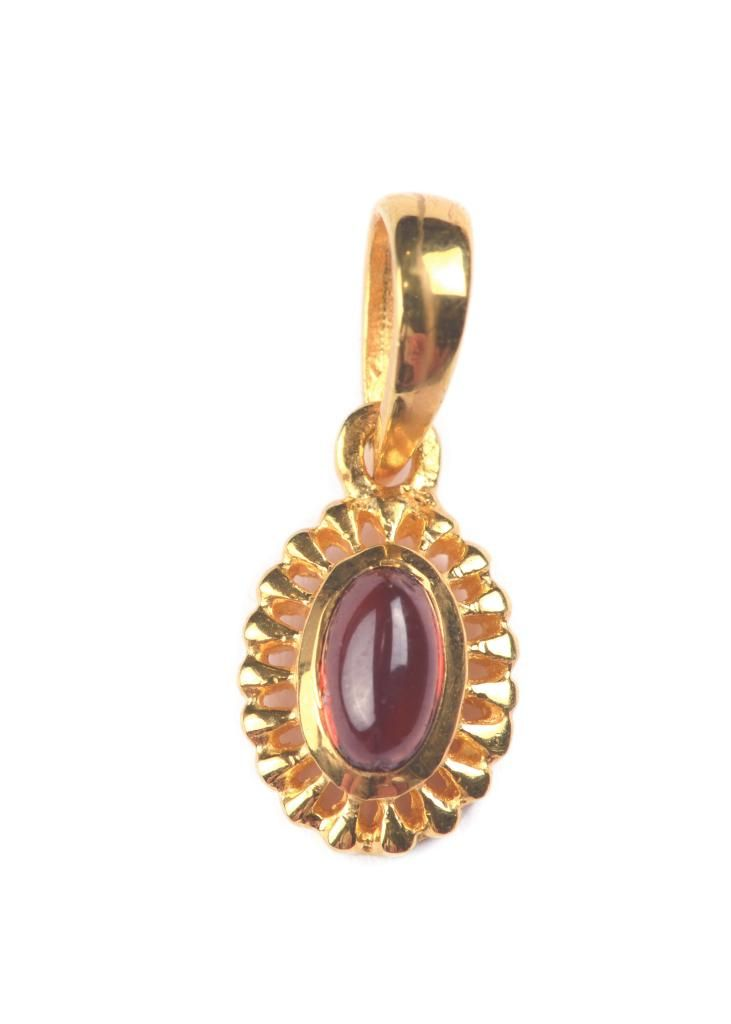 Syster P | ADORABLE OVAL GOLD, GARNET