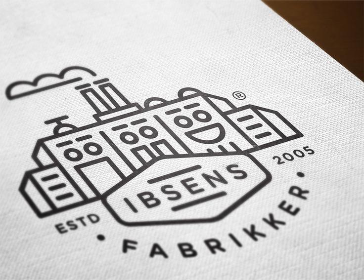 An adorable new logo for Ibsens Fabrikker, designed by Denmark-based Form Agenda. Smile!