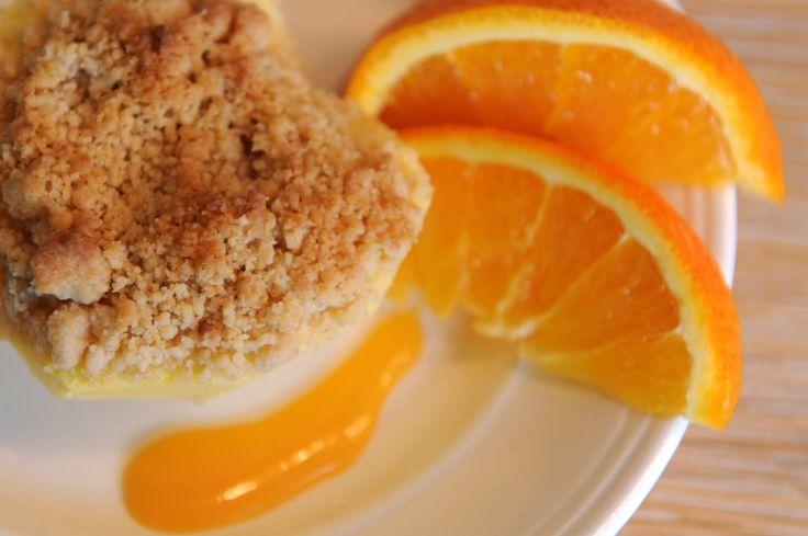 Gevulde appels met Orange Curd en kruimeldeeg