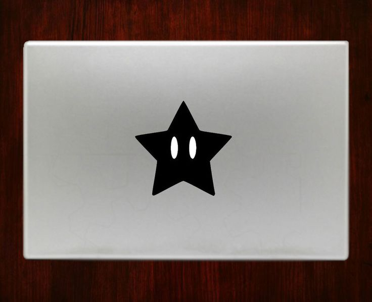 Super mario Star Allstars snes Bros Decal Stickers For Macbook 13 Pro Air Decal #RusticDecal