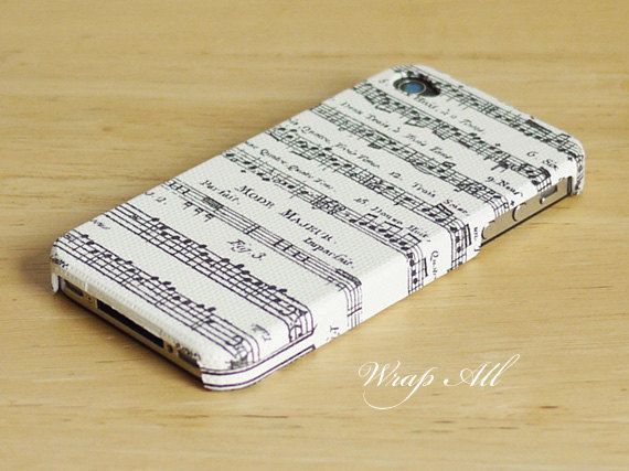 Music notes iPhone 4 case / Music iPhone 4s case/ Music by WrapAll, $15.90