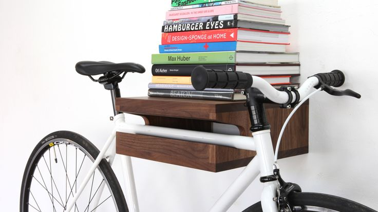 Bike wall mount shelf wood product design pinterest Bicycle bookshelf