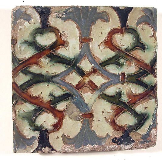 Tile, Seville, Spain; ceramic, 16th-17th century