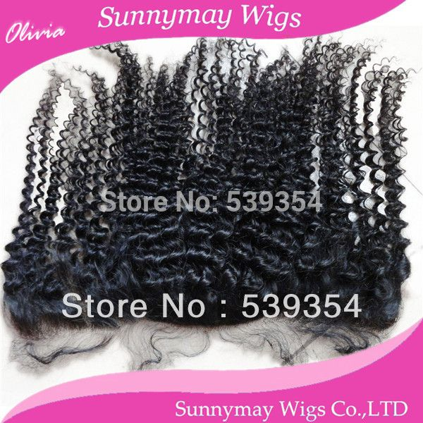 Sunnymay hair Afro kinky curl Malaysian hair lace frontal with baby hair and natural color lace frontal hair pieces in stock