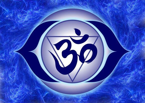 Pôster 6º Chakra Ajna - Frontal - Simbologia: A palavra chakra vem do sânscrito e significa roda ou disco.  Eles são percebidos por clarividentes como vórtices de energia vital, espirais girando em alta velocidade em pontos vitais do corpo. Os Clakras têm funções espirituais, psíquicas e emocionais e são pontos de interseção entre vários planos e através deles nosso corpo etérico se manifesta mais intensamente no corpo físico.  Os sete grandes chakras principais estão associados ao corpo...