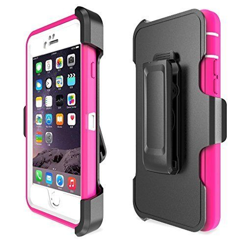 iPhone 6 plus Case, iPhone 6s plus Case [HEAVY DUTY] Built-in Screen Protector 4 Layer Rugged Rubber Cover Hybrid Hard Shell [With Kickstand] (pink). UNIQUE DESIGN: Amazing detachable 4 in 1 design, built-in touch screen protector defends against scratche