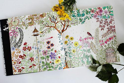 Secret Garden An Inky Treasure Hunt And Coloring Book Johanna Basford 9781780671062
