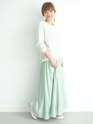 ROSSO   kawanoさんのスカート「ROSSO ROSSO リバーシブルマキシスカート」を使ったコーディネート