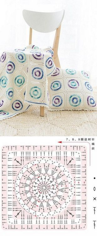 Плед и подушки крючком...♥ Deniz ♥ | crochet patterns | Pinterest | Posts and Html