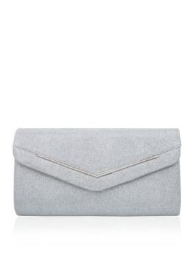 Nina Silver Alectra Large Envelope Clutch