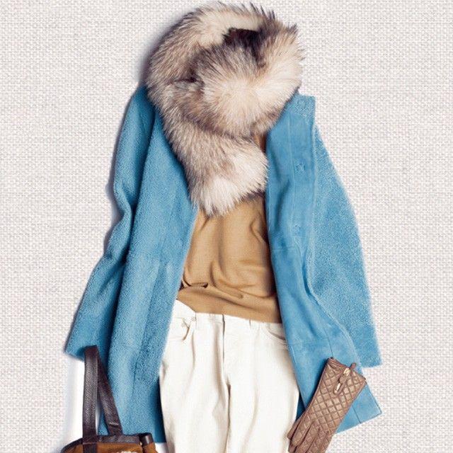 """秋冬のトレンド色""""スモーキーカラー""""とは、春のイメージのパステルが、グレイッシュ&マットに変化した、Domani世代にぴったりの大人カラー。全体をふんわり優しいトーンでまとめて、この冬は、繊細で大人っぽい、ニュアンス配色を楽しんで。"""