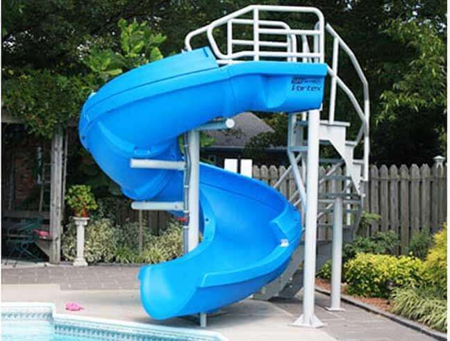 Swimming Pool Slides A Buyer S Guide Pool Slide Diy Swimming Pool Slides Pool Accessories